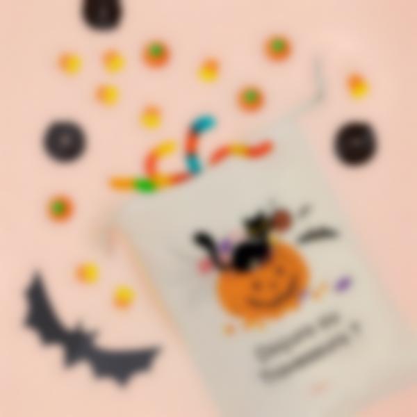 Saco de guloseimas de halloween personalizado