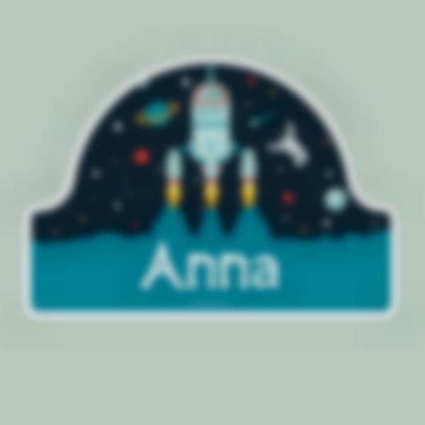 Adesivos personalizados para portas - Espaço