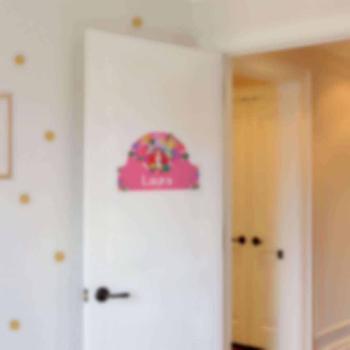Adesivos personalizados para portas - Disney Princesas Flores