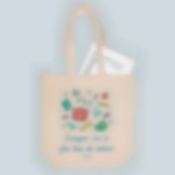 Saco de algodão biológico personalizado - Tote bag - Material escolar