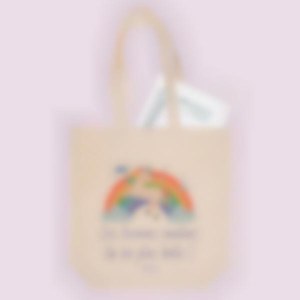 Saco de algodão biológico personalizado - Tote Bag - Unicórnio