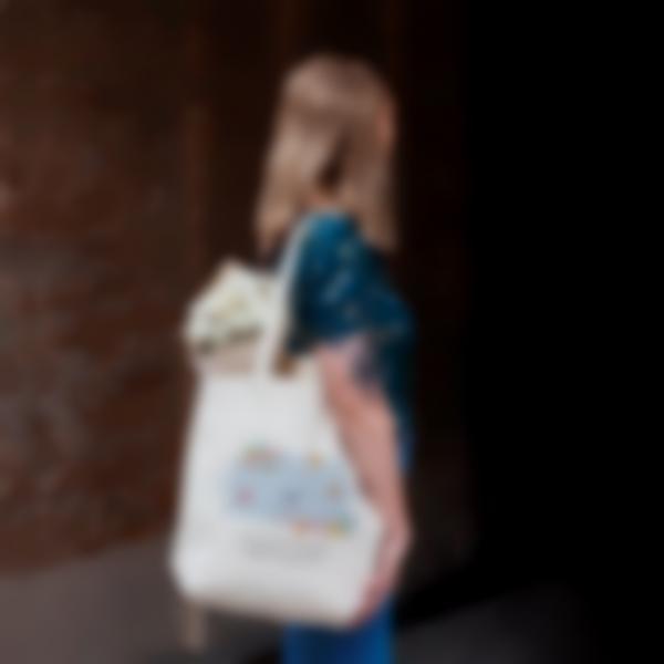 Saco de algodão biológico personalizado - Tote Bag - Pássaros