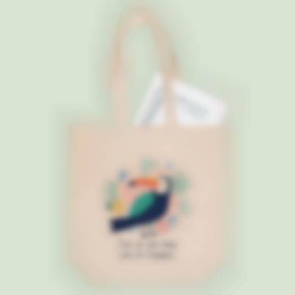 Saco de algodão biológico personalizado - Tote Bag - Tropical
