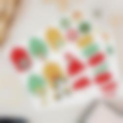 Etiquetas de presentes de Natal - Animais Verdes e Vermelhos