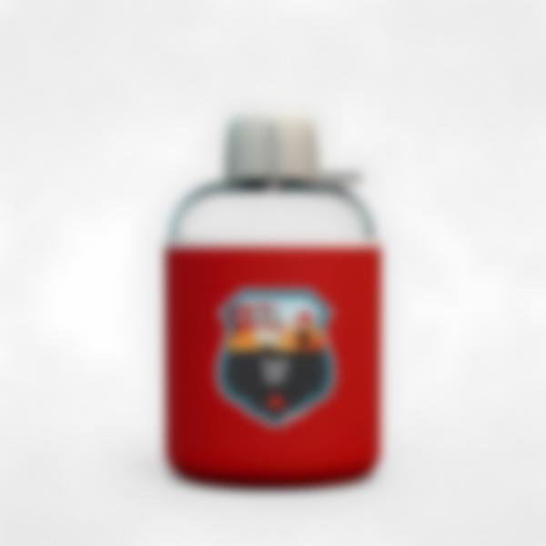 Garrafa infantil isotérmica plana vermelho – Bombeiro