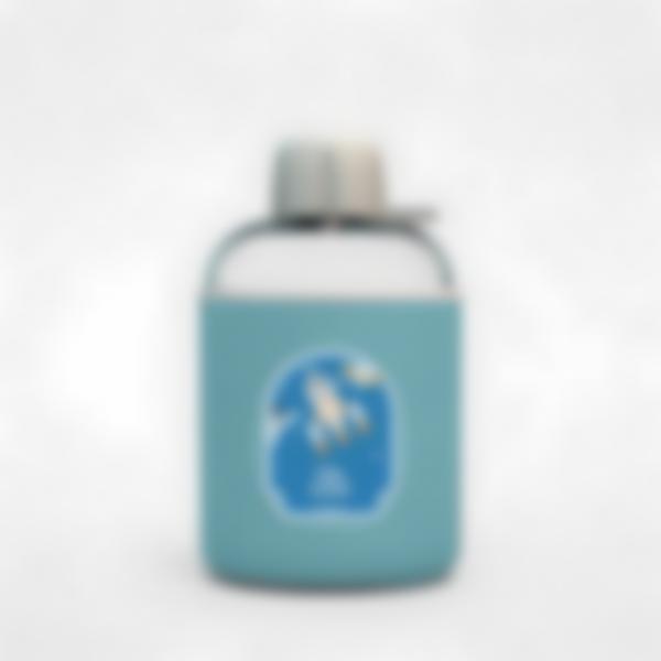 Garrafa infantil isotérmica plana azul – Espaço