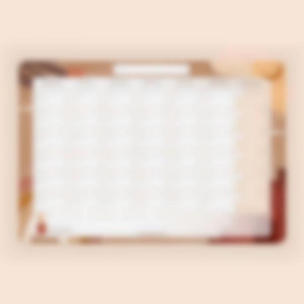 Calendário Mensal Apagável magnético - Terracota