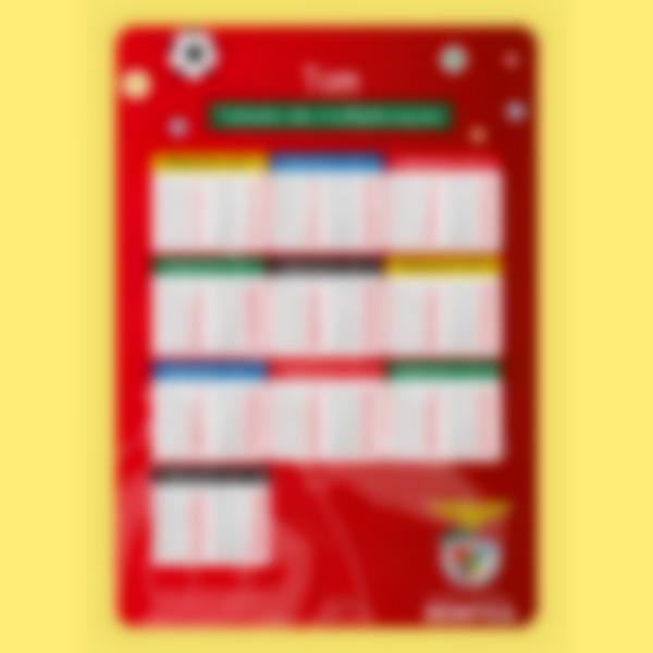 Cartaz educativo - Tabuada de Multiplicação - Benfica