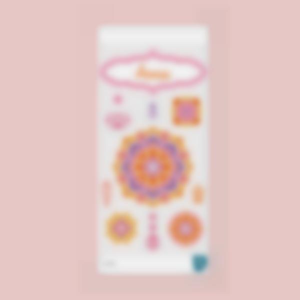 Autocolantes para decorar garrafa de água - Mandala