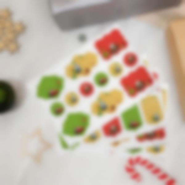 Etiquetas de presentes de Natal - Cars