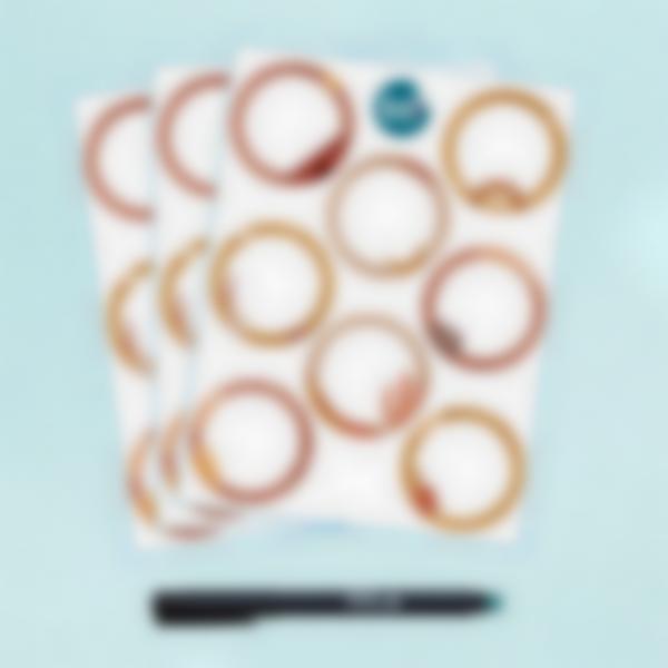 Etiquetas Brancas Apagáveis Redondas x 24 - Terracotta