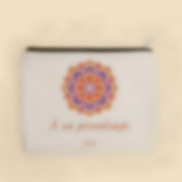 Pochete de tecido personalizada - Mandala