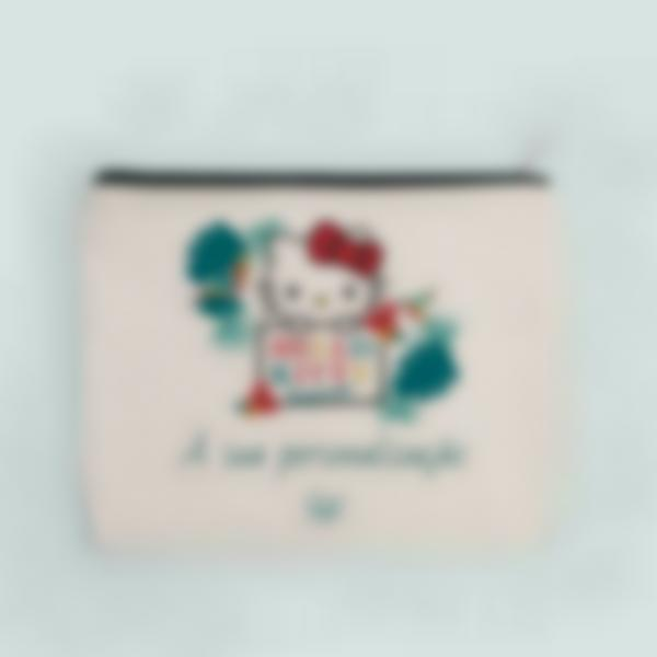 Pochete de tecido personalizada - Hello Kitty - Tropical