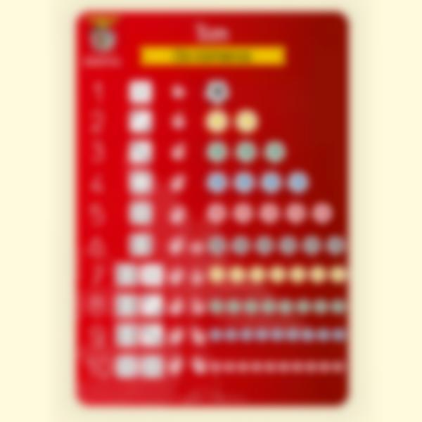 Póster educativo - Os números - Benfica