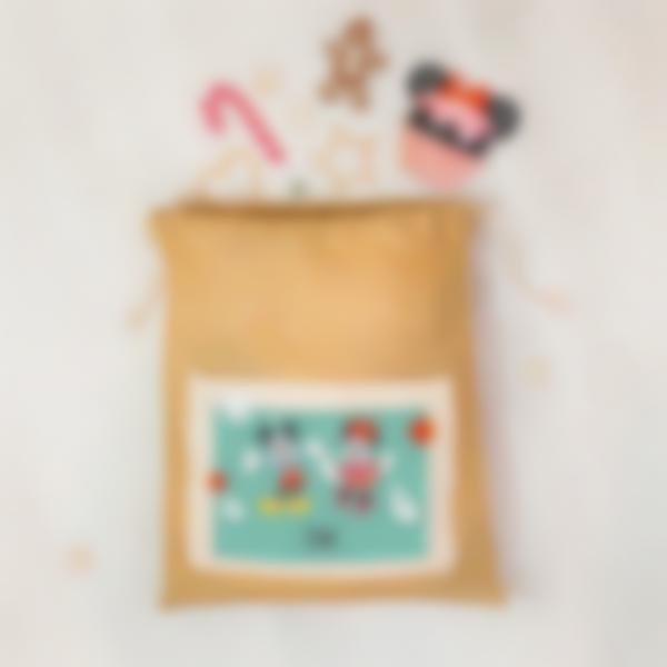 Cabaz do Pai Natal personalizado - Mickey e Minnie Mouse