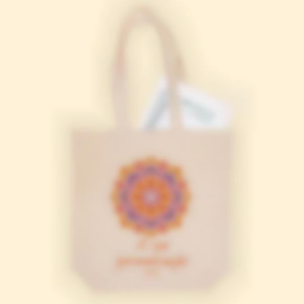 Saco de algodão biológico personalizado - Tote bag - Mandala