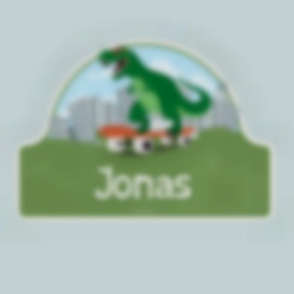 Adesivos personalizados para portas - Dinossauro T-rex