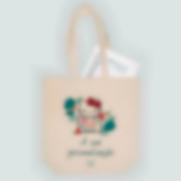 Saco de algodão biológico personalizado - Tote bag - Hello Kitty Tropical
