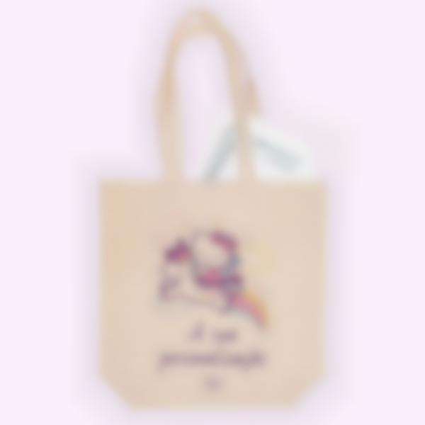 Saco de algodão biológico personalizado - Tote bag - Hello Kitty Unicórnio