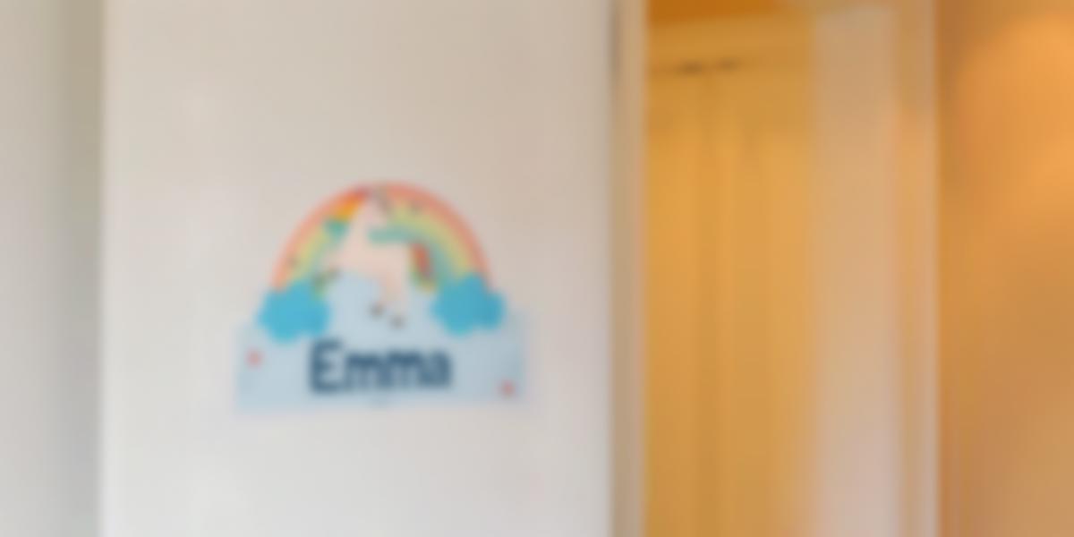 Autocolantes personalizáveis para portas do quarto infantil