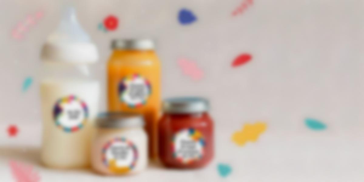 Etiquetas para anotyar o conteúdo dos frasquinhos de bebé