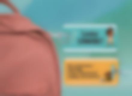 Uma etiqueta rígida Vaiana para marcar as bagagens no comboio ou no avião