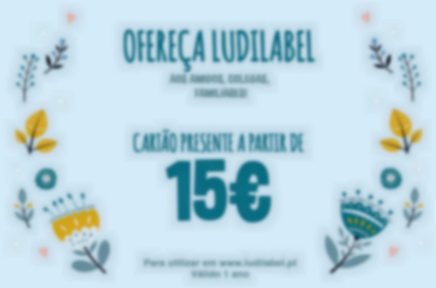 Offrez Ludilabel à la famille et aux amis dès 15 euros la carte cadeau valable 1 an.